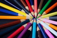 Pencils coloured on black 4