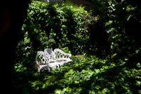 Love seat in the secret garden