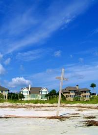 Cross on a Beach