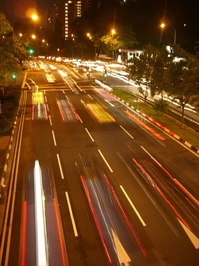 singapore night traffic