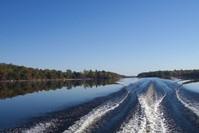 Boat Waves on Lake
