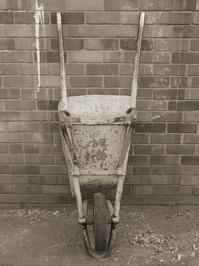Sepia Wheelbarrow