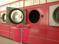 red washing machine004