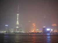 night skyline (hazy)