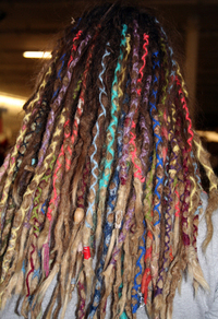 VERY CREATIVE AND COLORFUL BRAIDING