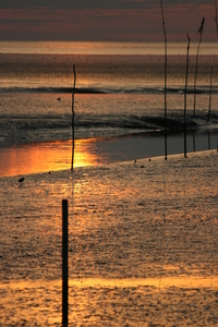 Sun down Northsea