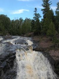Waterfall with sky
