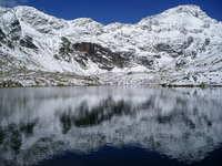 Lake between snow