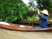 Thai man in a boat