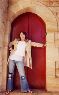 girl outside church