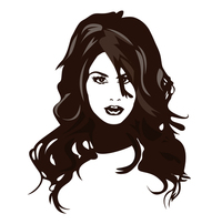 Illustrated woman face