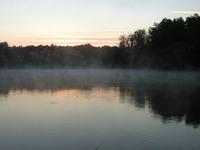 sunrise on the lakeside 1