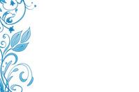 Blue Floral Design 1