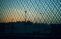 Urban industrial sunset
