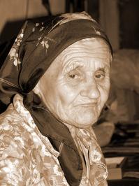 Old grandma's portret