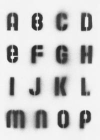 Stencil Alphabet (A-P)