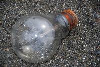 Lightbulb on Beach