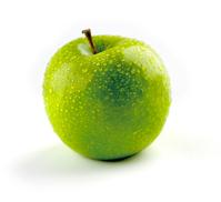 Apple isolated on white photos