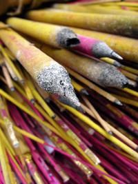 incense pile