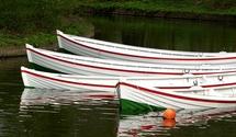 Rowboats halfsunken