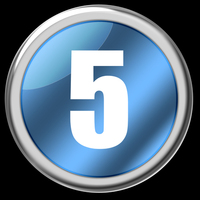 Slick Chrome Number Buttons 5