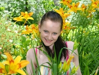 Girl in flowers
