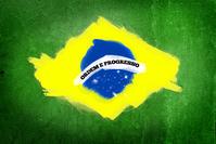 Grunge brazilian flag