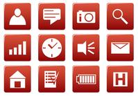 Gadget square icons set