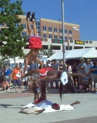 acrobats at festival 2