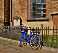 Blue bike - HDR