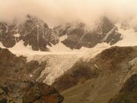 The clouds invade the glacier