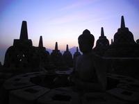 The temple of Borobudur