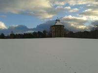 Dovecot Dougalston Golf Course Milngavie in snow