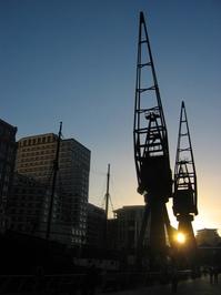Dockland cranes