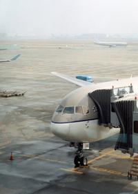 Plane at Seoul airport