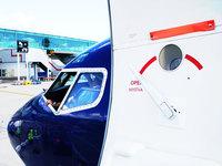 Airplane cockpit, door and pil