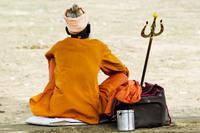 Saffron sadhu