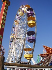 Big wheel at Santa Monica`s Pier