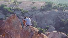 praying on the rock