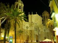 Cadiz Cathedral at night