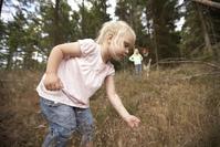 Picking grass