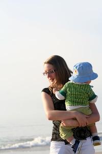 Woman & Baby on the beach 5