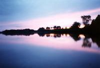 Sunset on the Sitno Lake