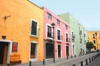 Colorfull street in Puebla_Mex