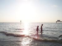 Beach at sundown