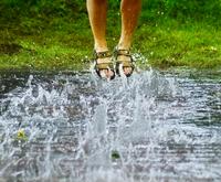 jumping waterdrops