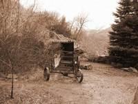 Sepia wagon