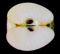 Half apple closeup 2