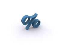 3D Percentage Symbol