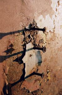 (3 screws into rust)